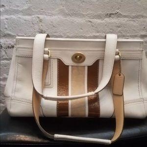 Coach leather hampton handbagwhite/beige purse